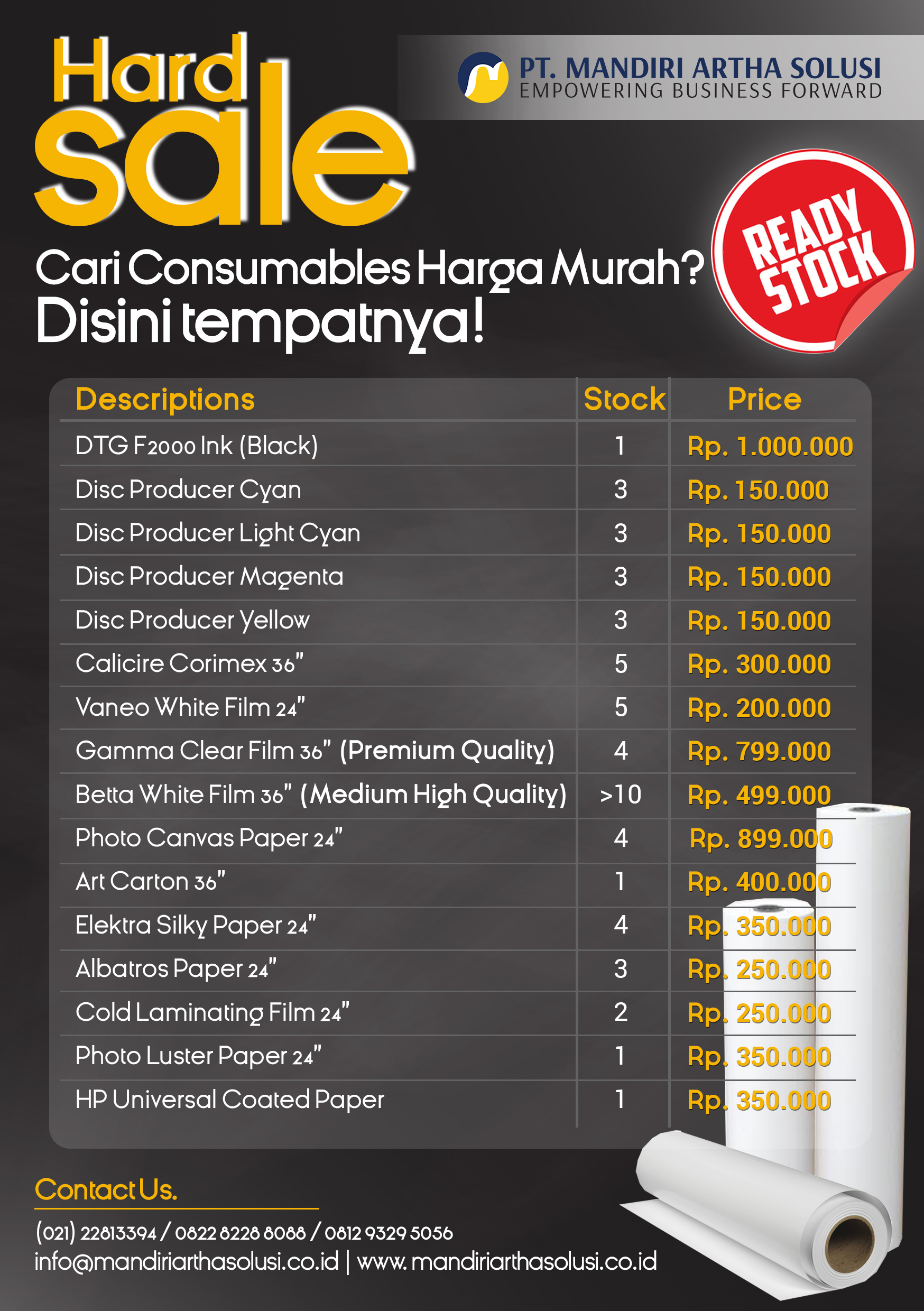 Promo Hard Sale Consumable